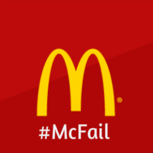 Hashtag Disaster by McDonalds on Twitter