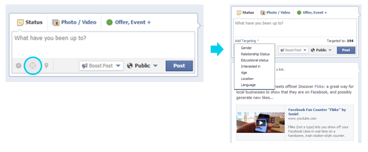 How to target posts on Facebook