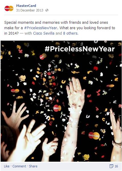 MasterCard priceless year