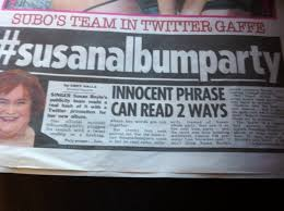 Susan Boyle Twitter Hashtag Issue