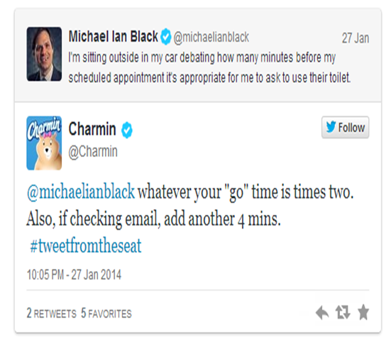 Funny Tweet by Charmin