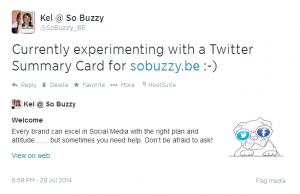 Twitter Cards - Experiment