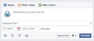 scheduling facebook posts - old way
