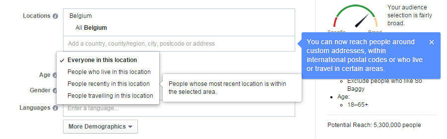 Facebook Location Targeting Update