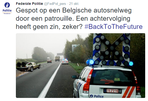 Federale Politie Back To The Future